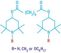 Chemical structures of low MW Hindered Amine Light Stabilizer