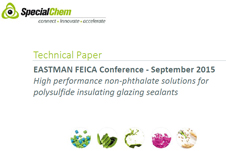 Eastman FEICA 2015 non-phthalate solutions for polysulfide insulating glazing sealants