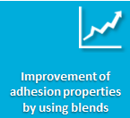 Improved adhesion properties with diol blends