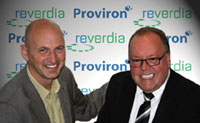 Proviron Reverdia signing ceremony, Wim Michiels on the left and Will van den Tweel on the right