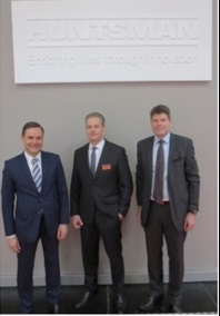 L-R: Mkko Teittinen (CEO Bang & Bonsomer), Hans Jelinek (Sales Director, Huntsman <br />Advanced Materials Europe), Patrik Gallen (BU Director Paints & Coatings Bang & Bonsomer)