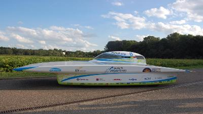 Belgian solar car produced with bio-based resins