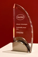 Covestro receives Sustainability Prize from Henkel