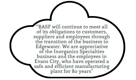 BASF -  Inorganic Specialties Business to Edgewater