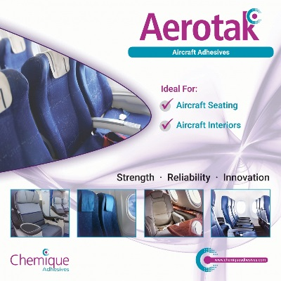 Chemique Adhesives Launches Aerotak for Aircraft Interiors