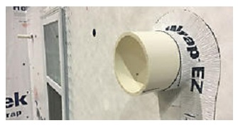 DuPont™ FlexWrap™ EZ around a pipe penetration