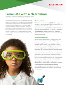 Formulate with a clear vision : Eastman plasticizer analytical capabilities